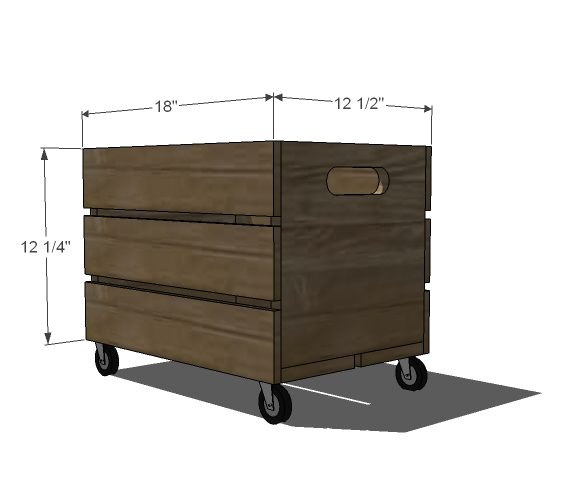 DIY Toy Box Plans Ana White making things from pallets Plans